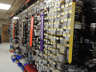 National Hardware aisle of fixtures