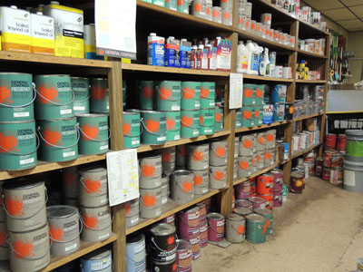 Interior and exterior paint available